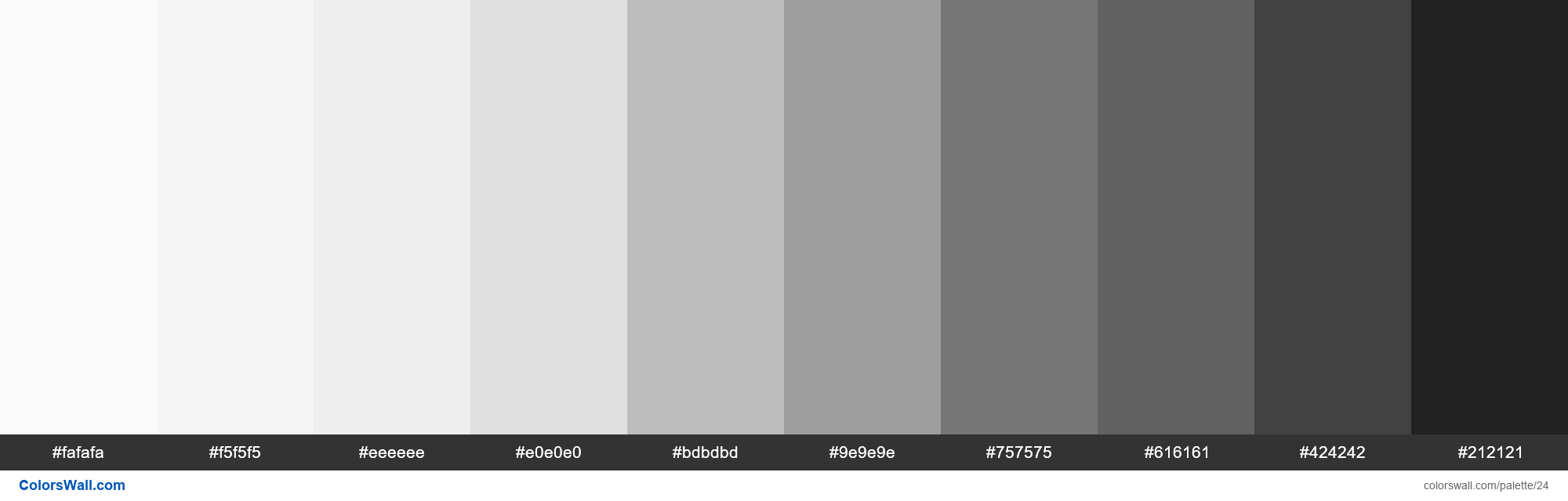 Grey Palette Materialize Css Hex Rgb Codes