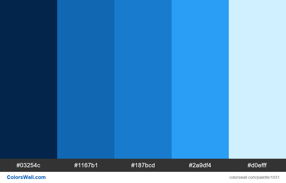 Abstract Blue Color Palette Hex Rgb Codes
