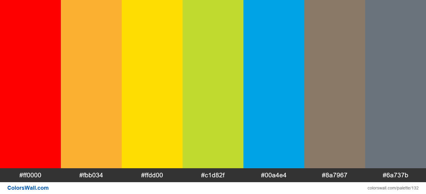 Adobe colors palette - #132