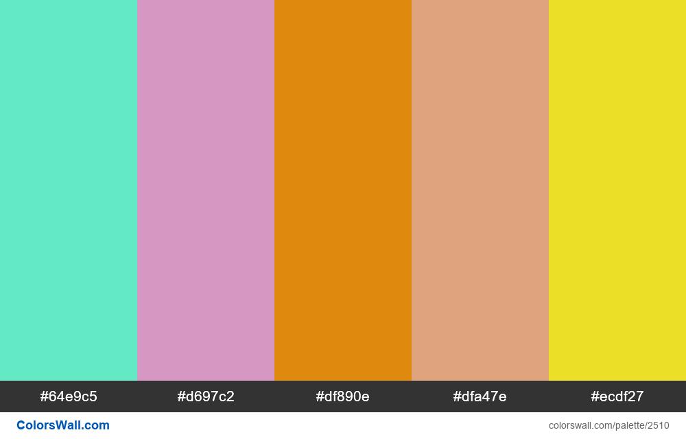 Alers colors palette 2018 - #2510