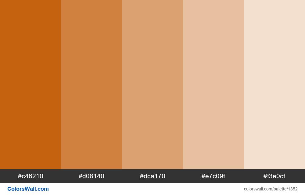 Alloy orange tints 5 colors - #1352