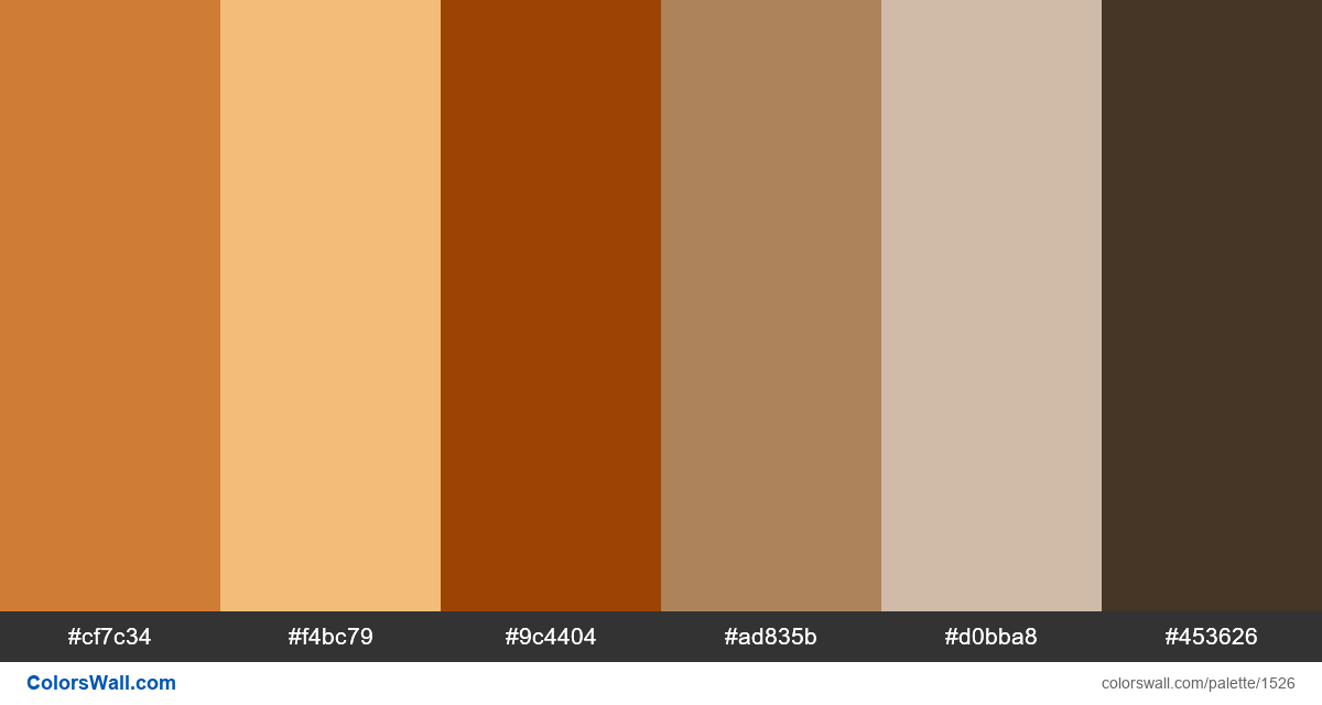 Antique city colors palette - #1526