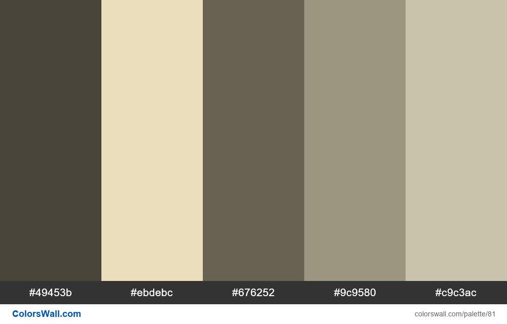 Antique picture colors palette - #81