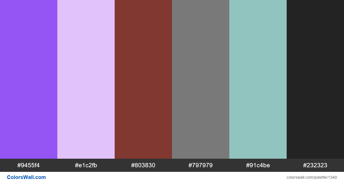 App colors palette - #1340