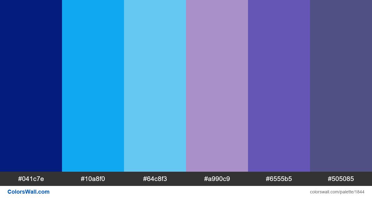 Aqua dashboard colors palette - #1844