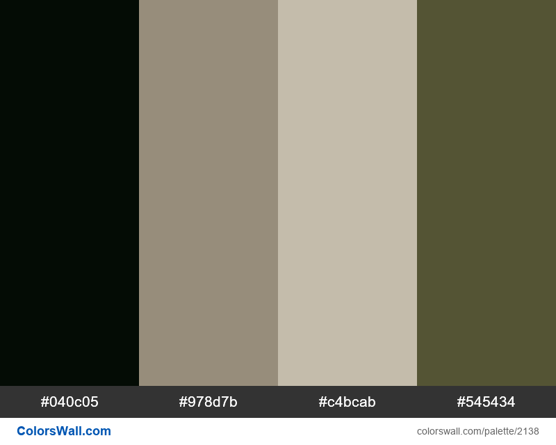 Areology colors palette - #2138