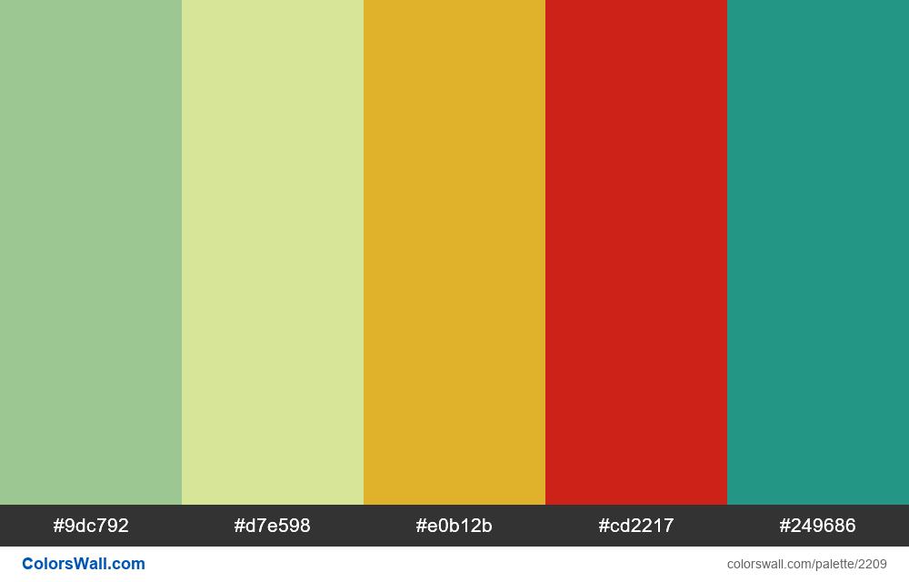 @colorswall palette #1316 - #2209