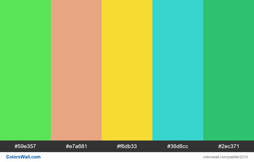 @colorswall palette #1317 - #2210