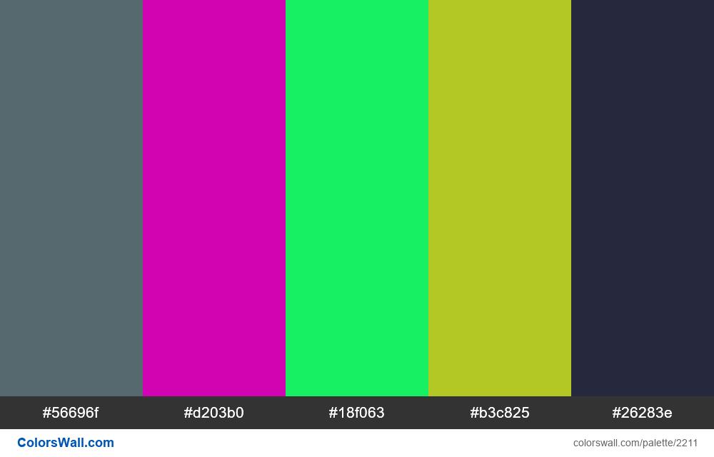 @colorswall palette #1318 - #2211