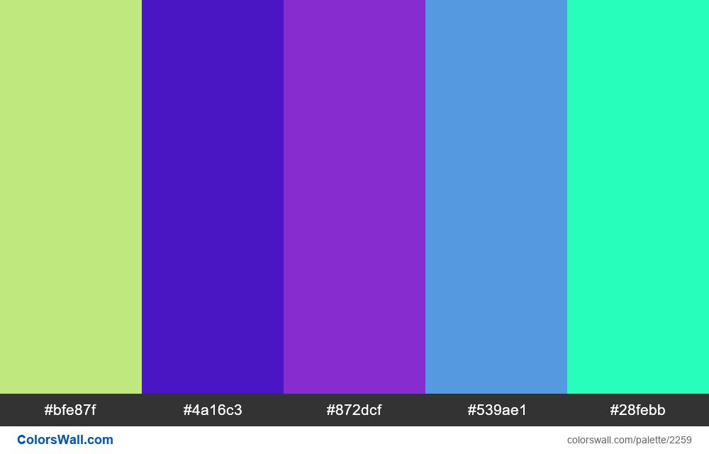 @colorswall palette #1333 - #2259