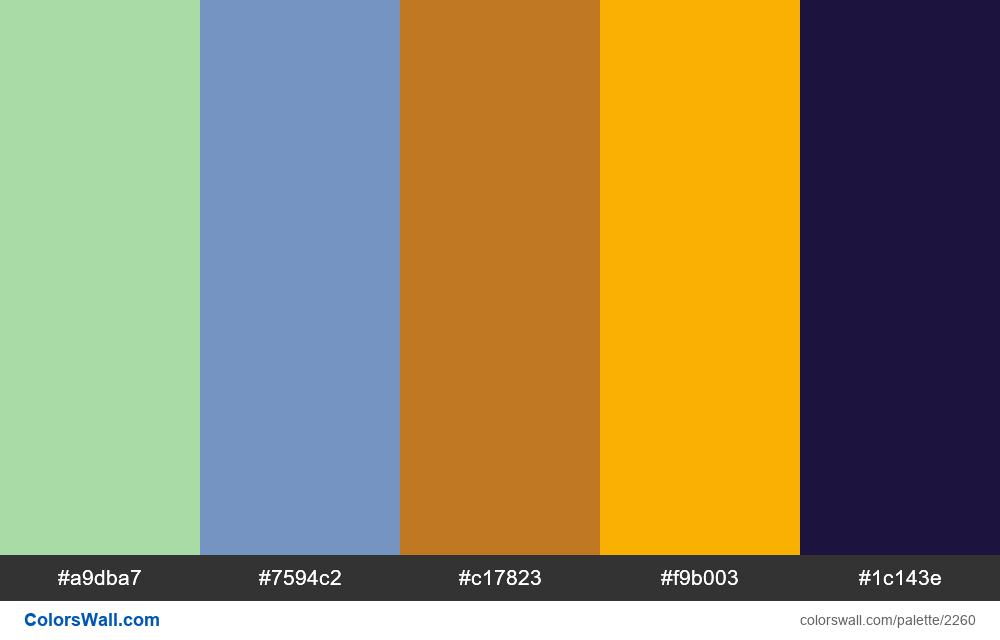 @colorswall palette #1334 - #2260