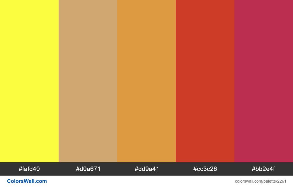 @colorswall palette #1335 - #2261