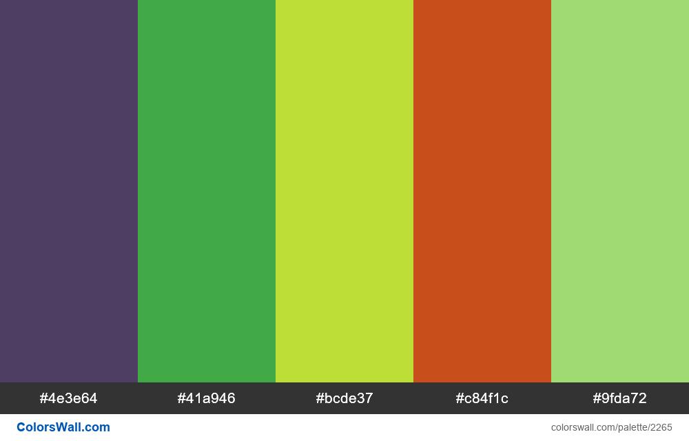 @colorswall palette #1338 - #2265