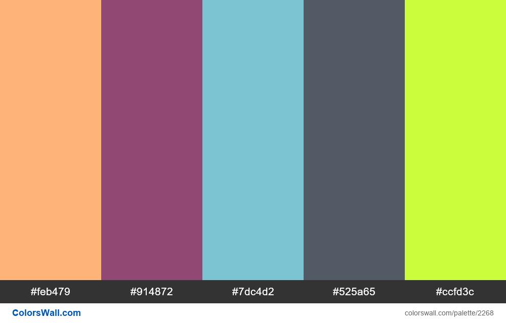 @colorswall palette #1341 - #2268