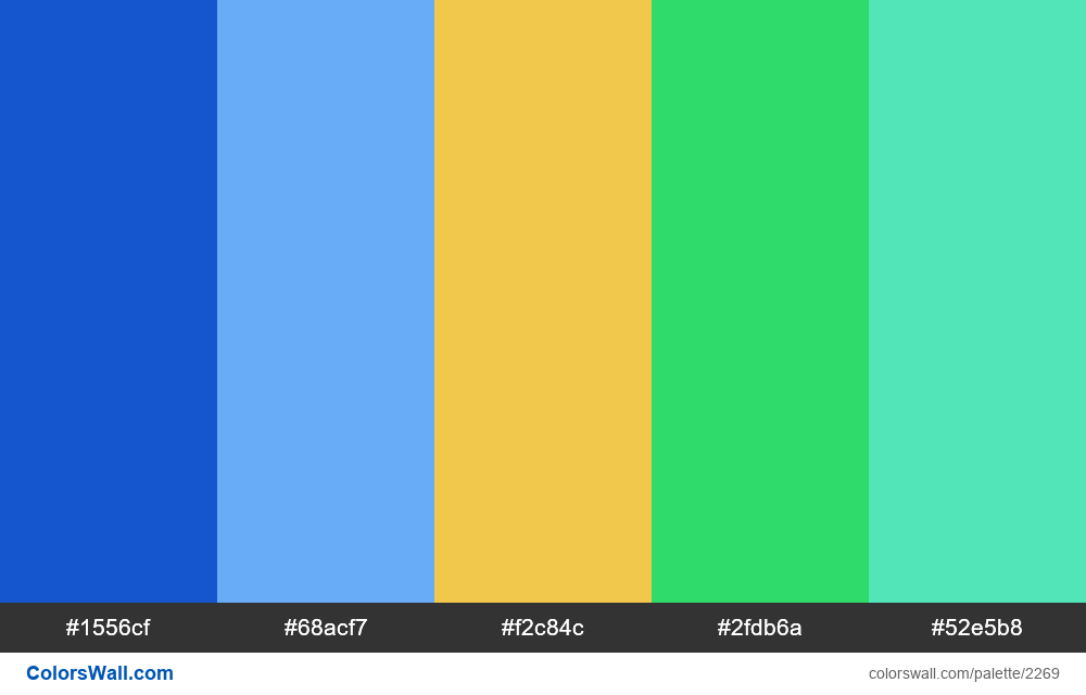 @colorswall palette #1342 - #2269