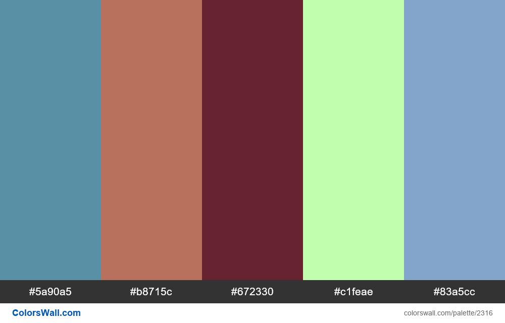 @colorswall palette #1354 - #2316