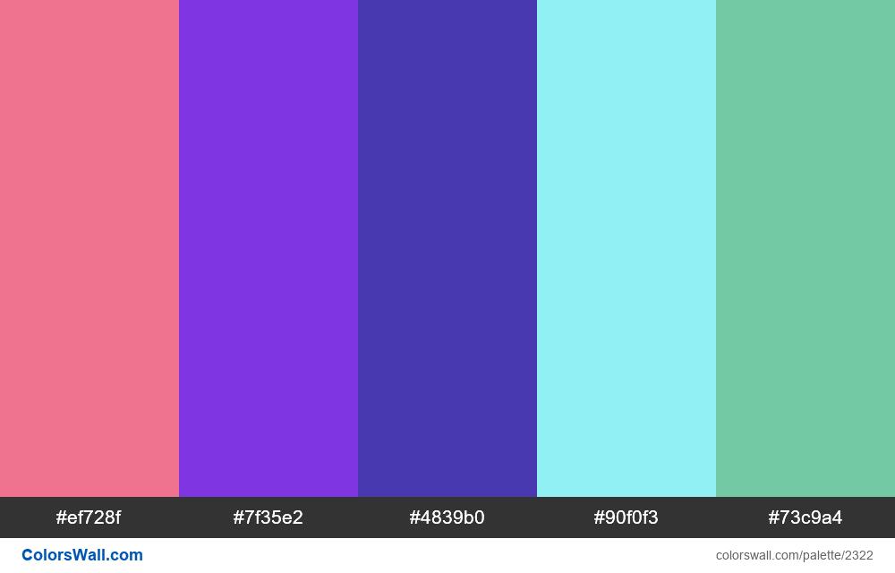 @colorswall palette #1360 - #2322
