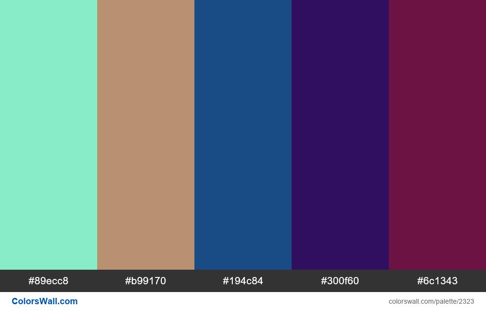 @colorswall palette #1361 - #2323