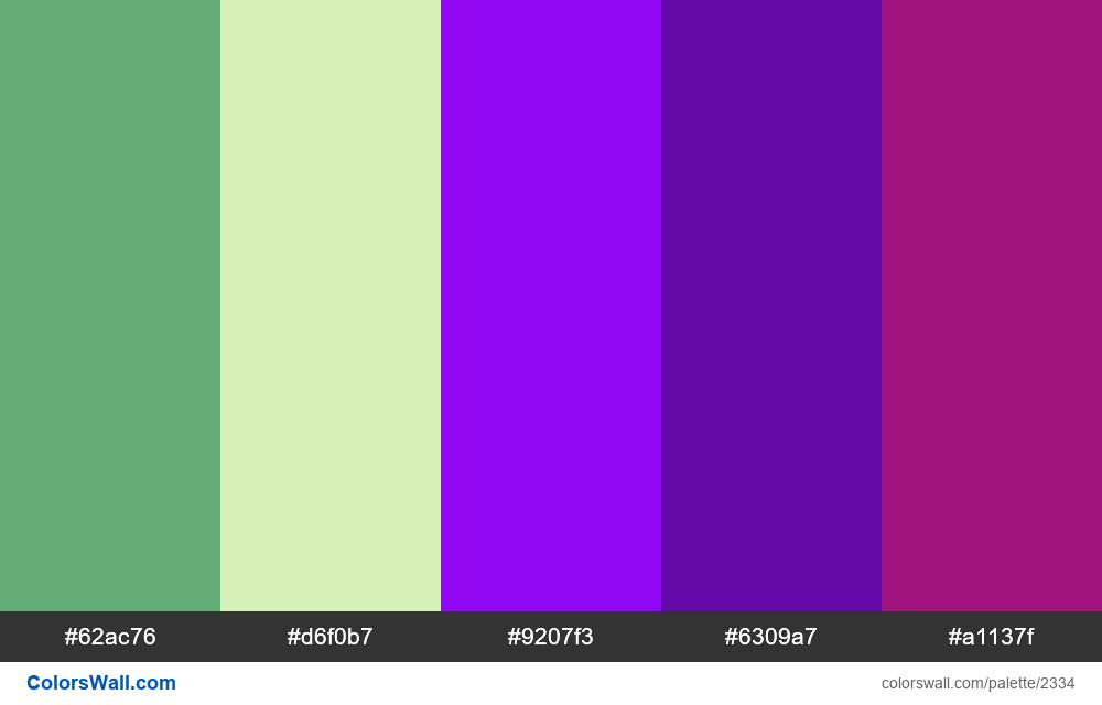@colorswall palette #1372 - #2334