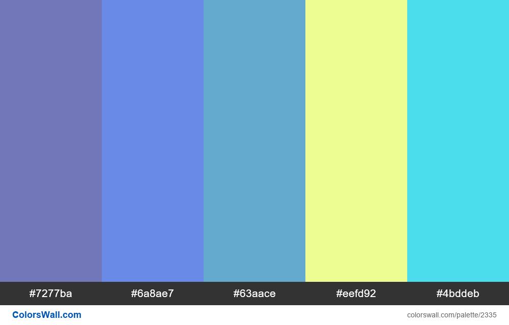 @colorswall palette #1373 - #2335