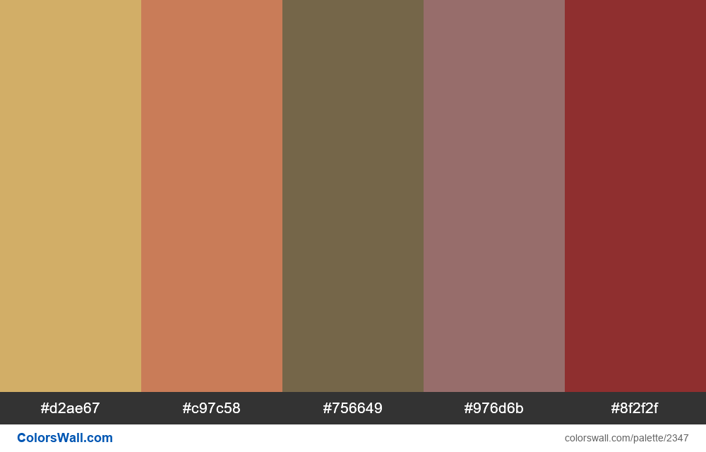 @colorswall palette #1384 #autumn - #2347