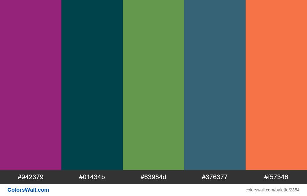 @colorswall palette #1386 - #2354