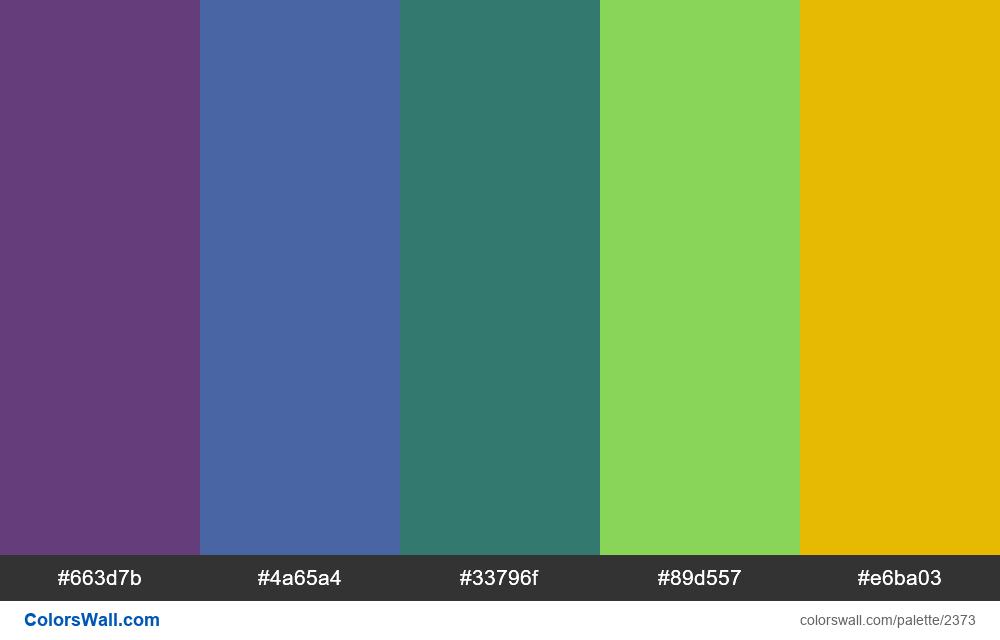 @colorswall palette #1394 - #2373