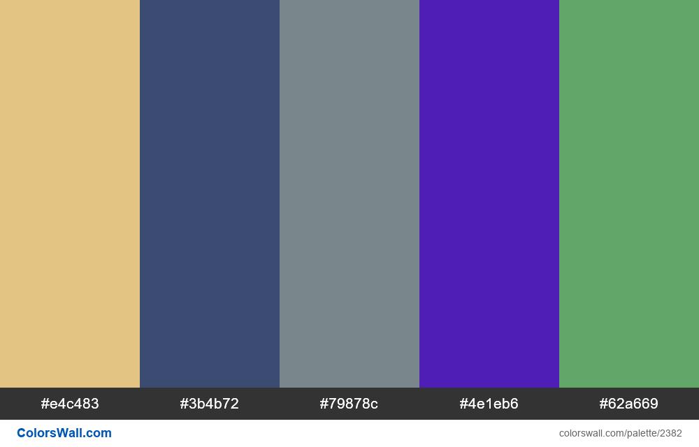 @colorswall palette #1396 - #2382