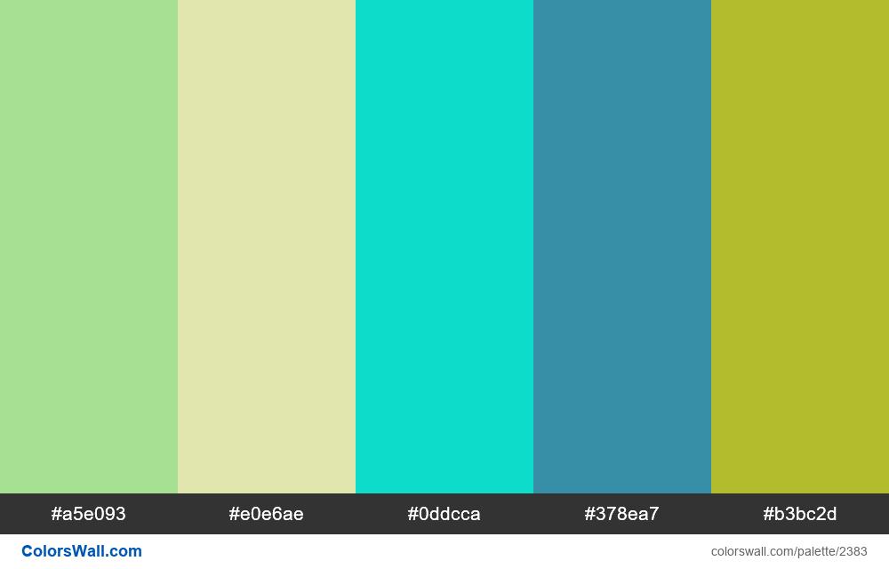 @colorswall palette #1397 - #2383