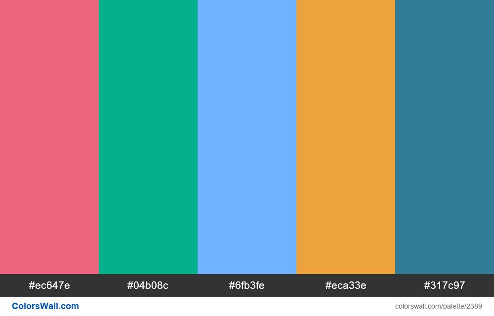 @colorswall palette #1400 - #2389
