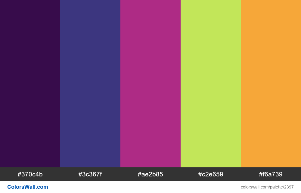 @colorswall palette #1408 - #2397