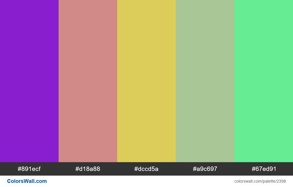 @colorswall palette #1409 - #2398