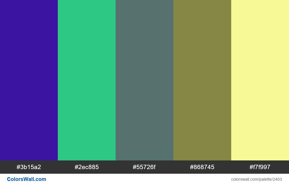 @colorswall palette #1411 - #2403