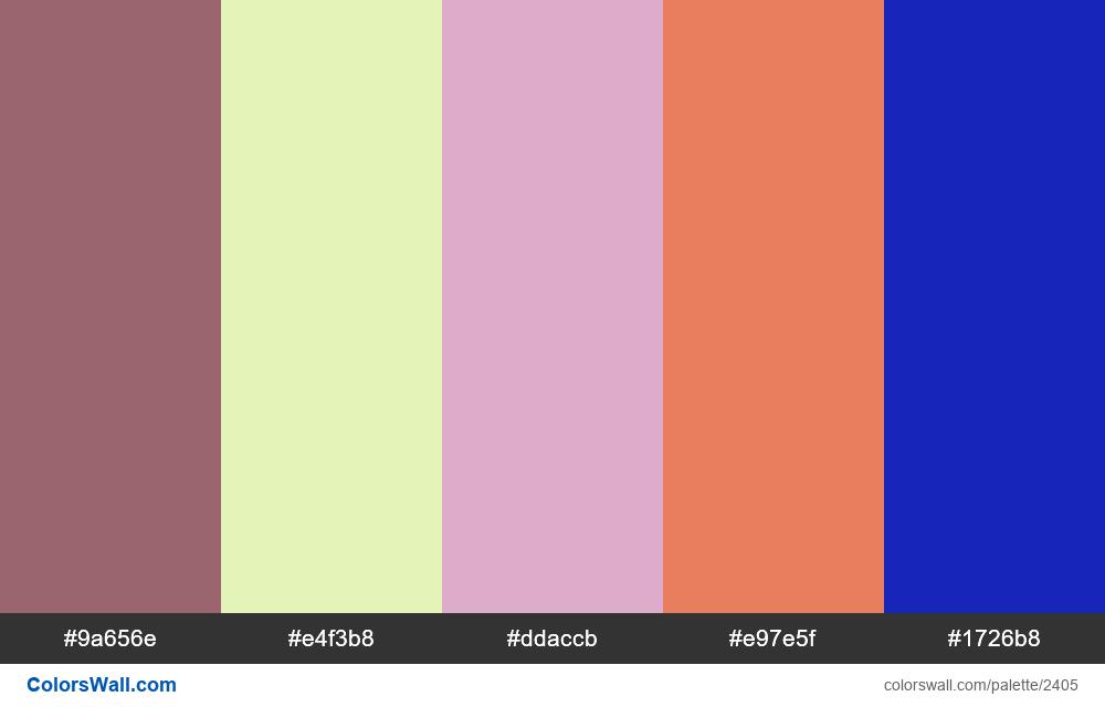@colorswall palette #1413 - #2405