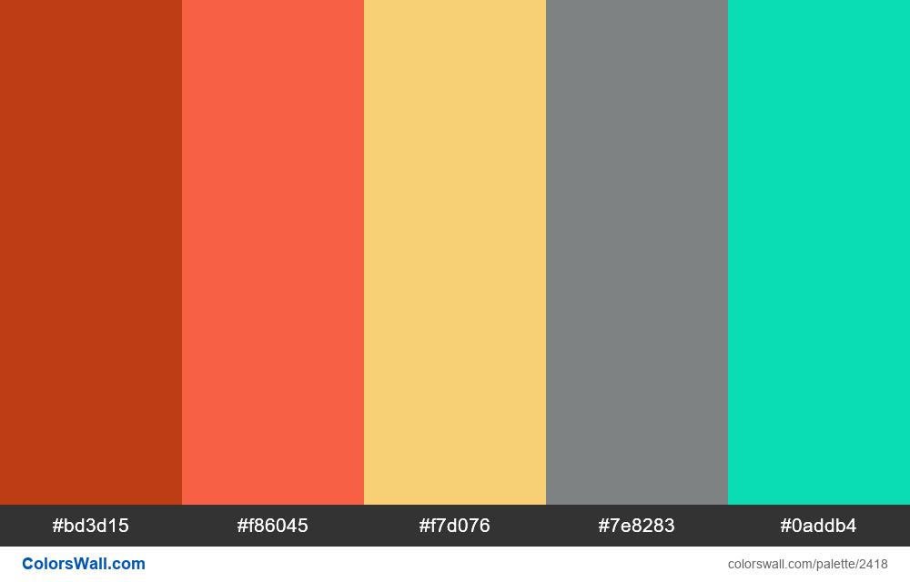 @colorswall palette #1425 - #2418