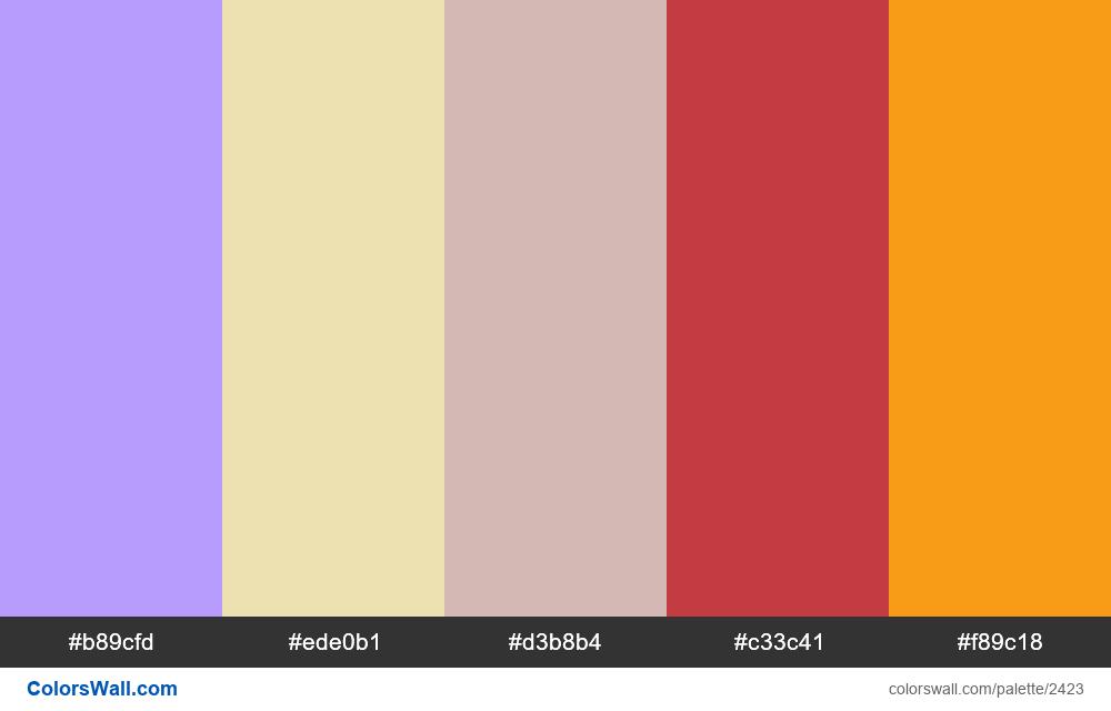 @colorswall palette #1431 - #2423