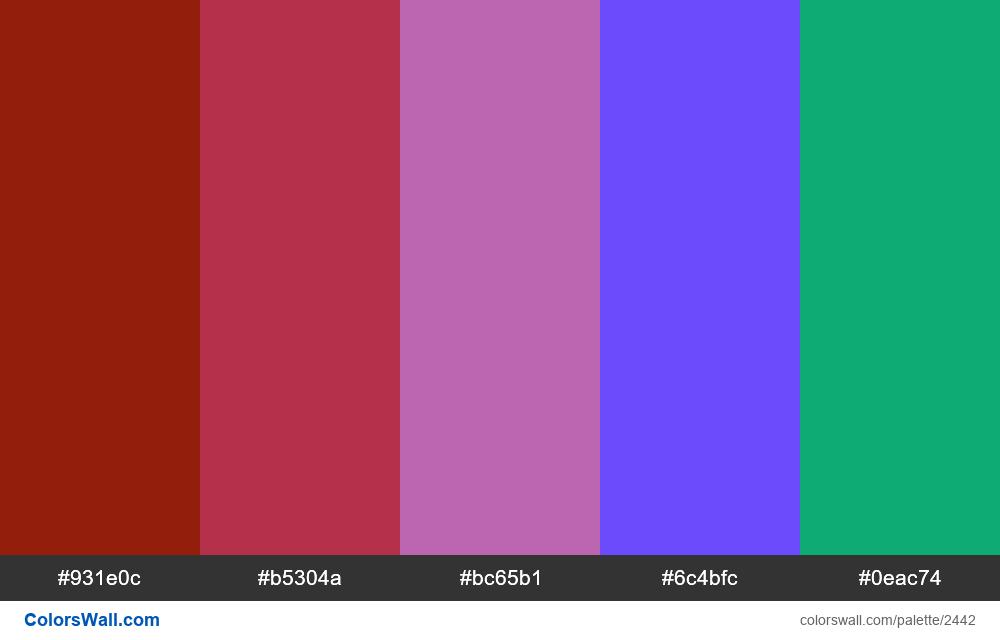 @colorswall palette #1451 - #2442