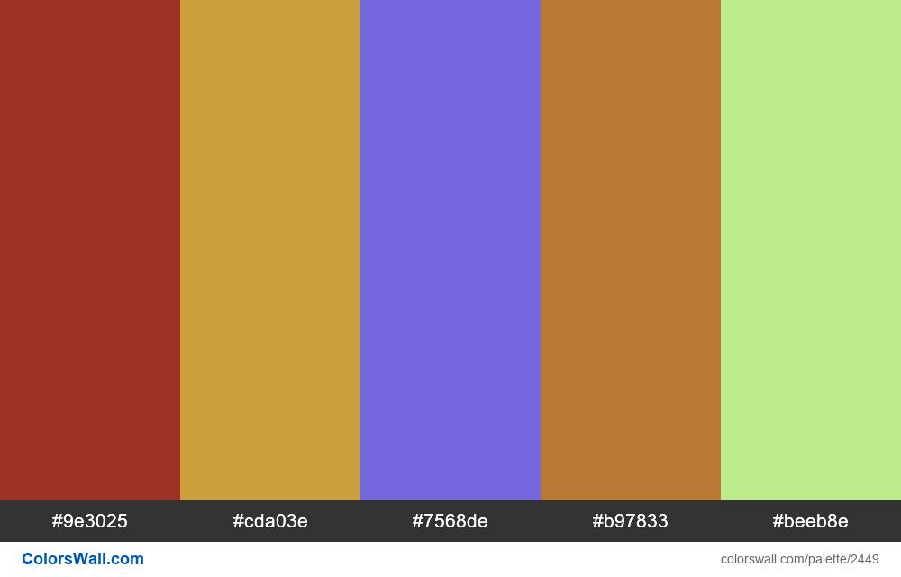 @colorswall palette #1458 - #2449