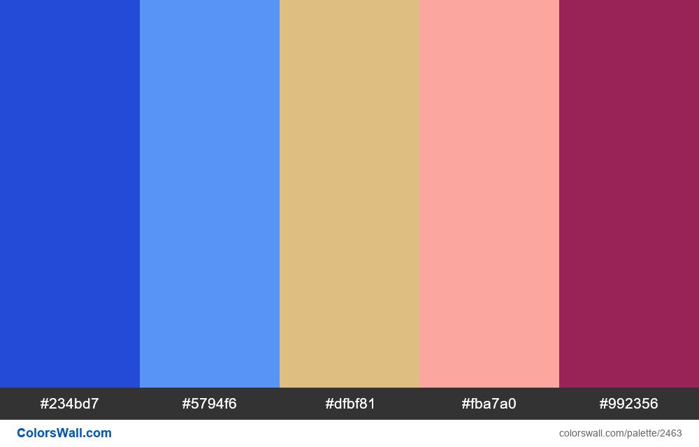 @colorswall palette #1472 - #2463