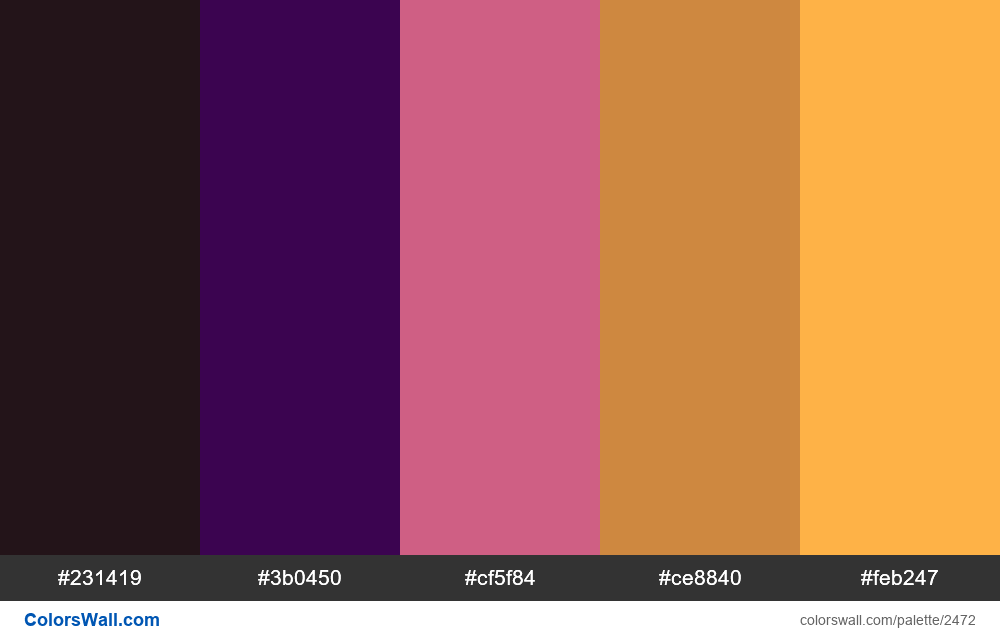 @colorswall palette #1481 - #2472