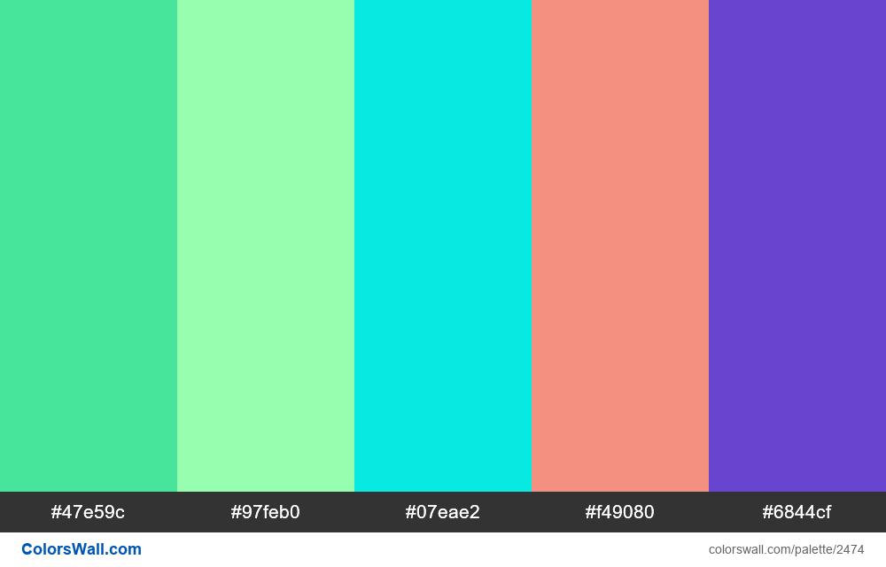 @colorswall palette #1483 - #2474