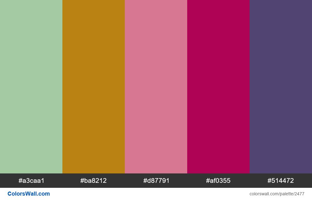 @colorswall palette #1486 - #2477