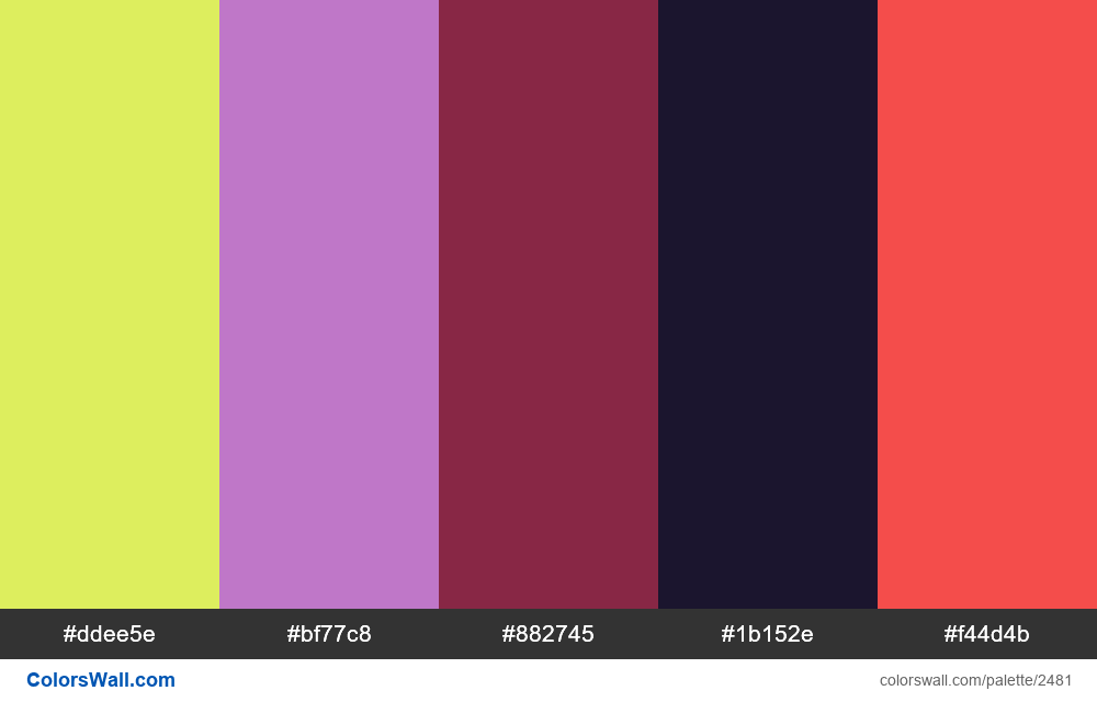 @colorswall palette #1490 sport colors - #2481