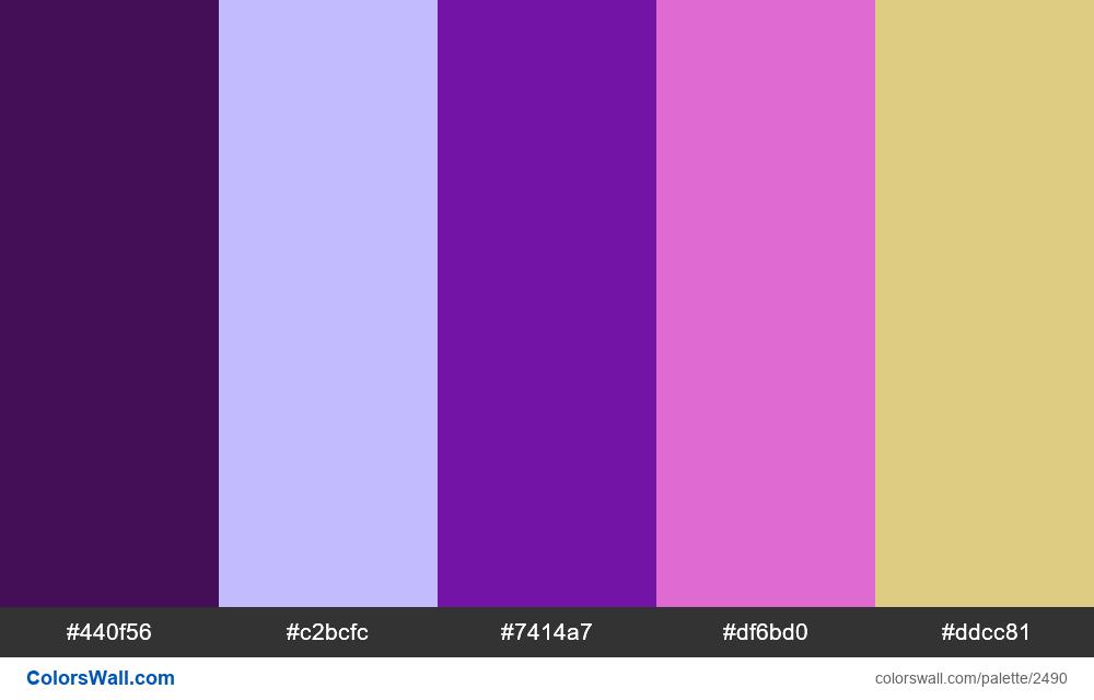@colorswall palette #1492 - #2490