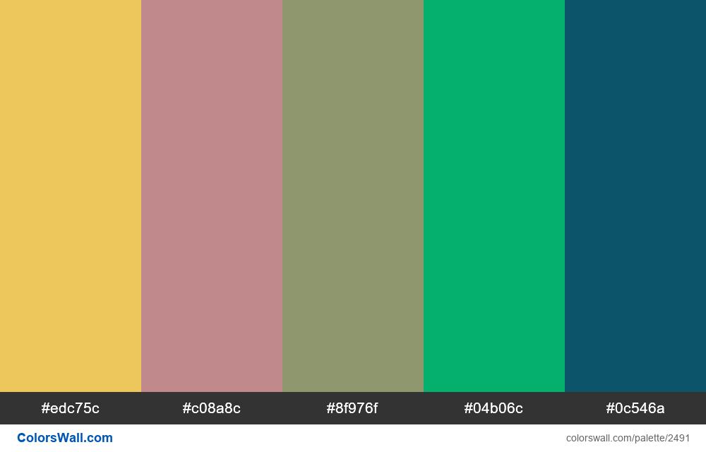 @colorswall palette #1493 - #2491