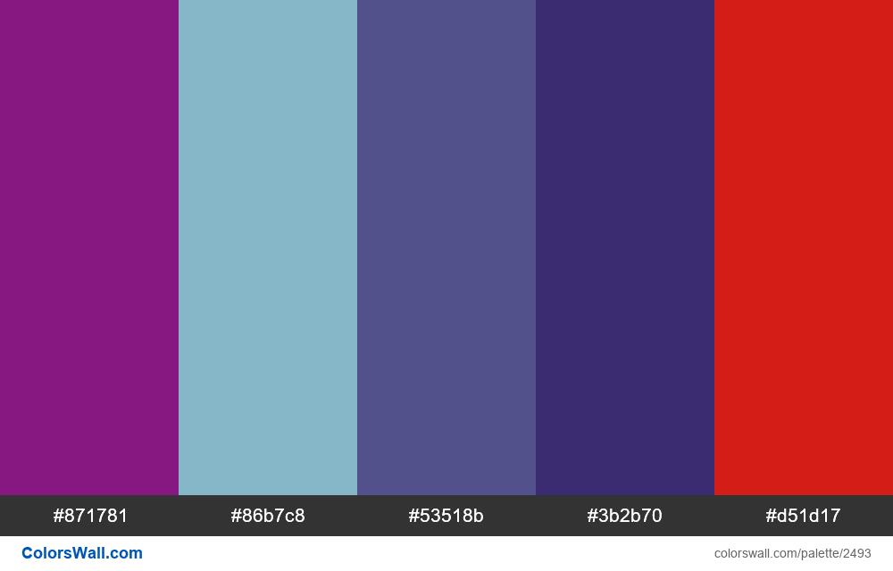 @colorswall palette #1495 - #2493