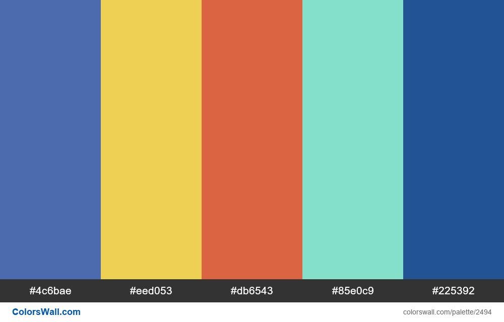 @colorswall palette #1496 - #2494