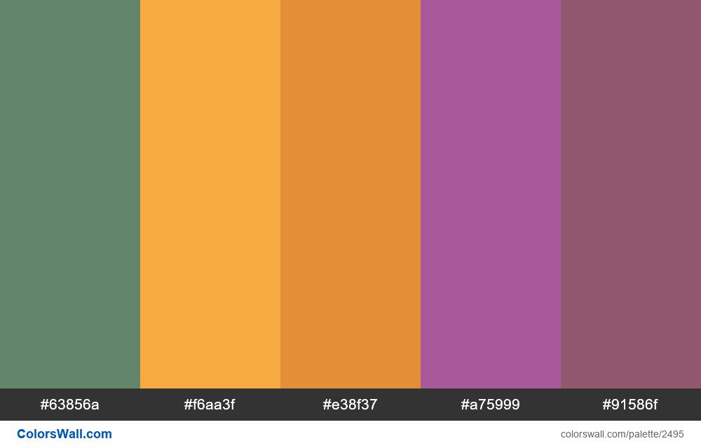 @colorswall palette #1497 - #2495