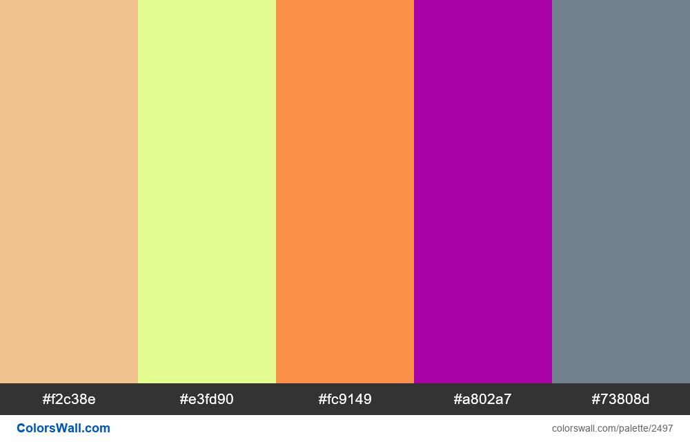@colorswall palette #1499 - #2497