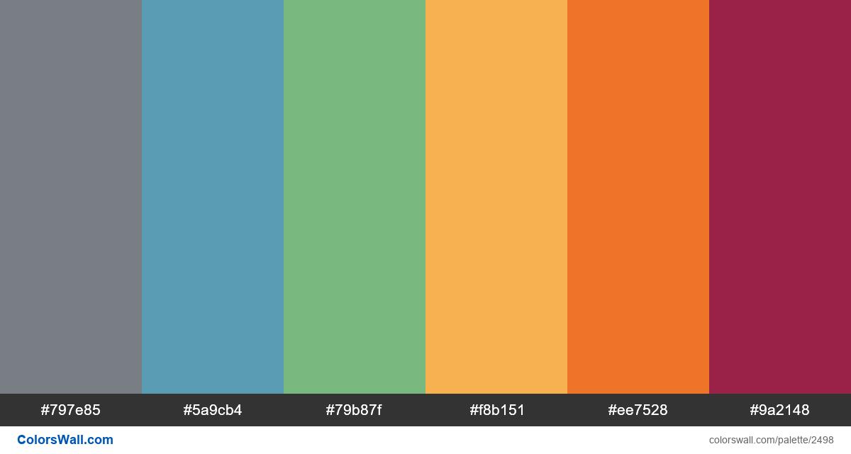 @colorswall palette #1500 - #2498